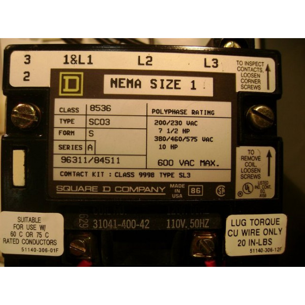 Nema Size 0 And 1 Type S Combination Motor Control