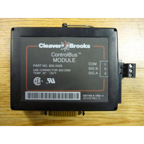 Used Cleaver Brooks Control Bus Module 833-2425 ControlBus CB Hawk