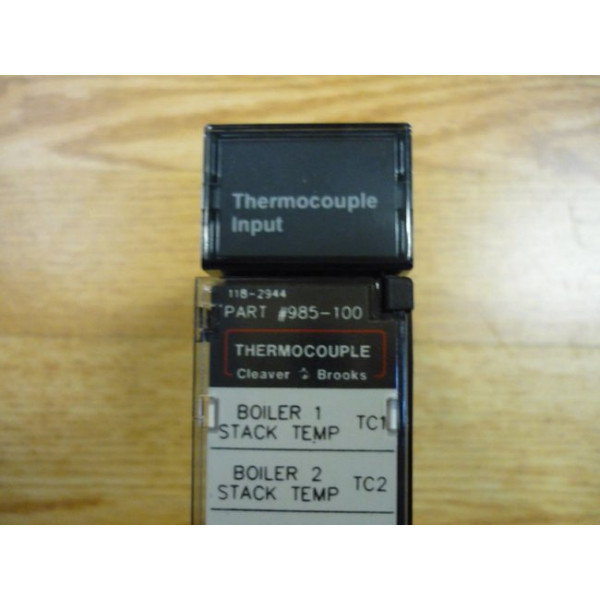 Cleaver Brooks CB Hawk Thermocouple Module 985-100 Used 118-2935 Thermo Couple