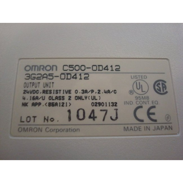 Omron 3G2A5-OD412 C500 Output Unit New NIB