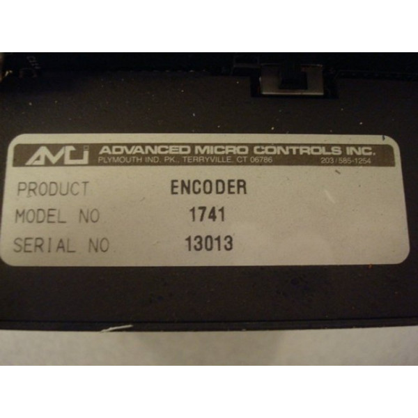 Advanced Micro Controls 1741 Resolver Interface Used