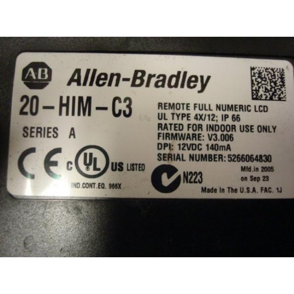 Allen Bradley 20AD011F3AYNAEC0 PowerFlex 70 Drive Used