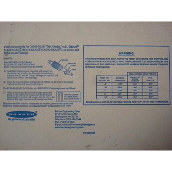 Banner IAT2205 Fiber End Assembly 20527 0505 New NIB