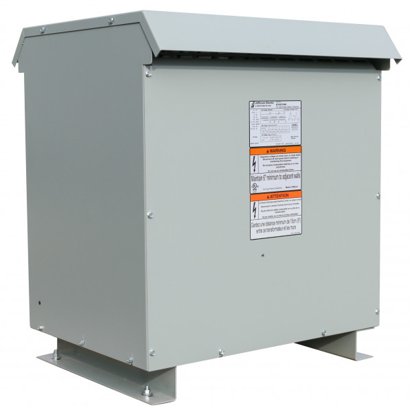 Factory New 75 KVA Dry Transformer Delta Delta Primary 480 Secondary 240 Center Tap Delta / 3 Phase /10 Year Warranty / Jefferson Electric 423-9237-000