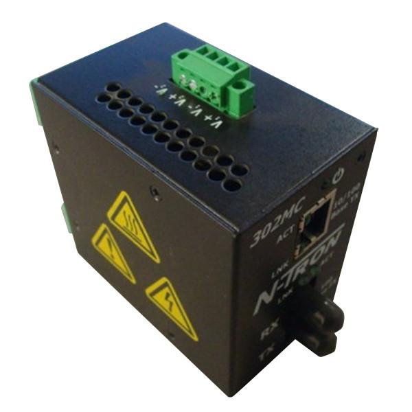N-Tron 302MC-ST-N Industrial Media Converter Used