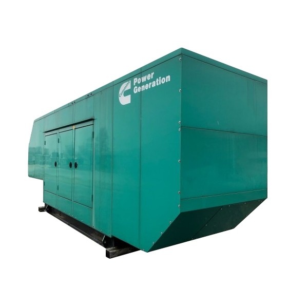 New Surplus Single Phase Natural Gas Generator 230 KW Cummins KTA19GC Year 2013 Enclosed w/ Transfer switch w/ Load Bank