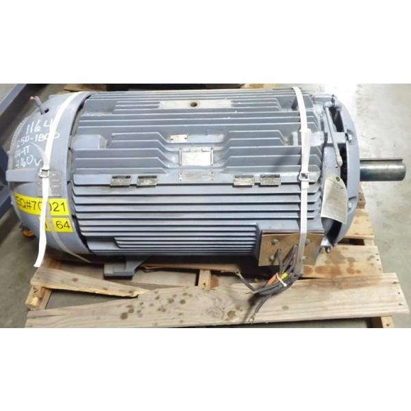 250 HP Electric Motor Frame 449T 1785 RPM 4160 Volt Siemens-Allis Rebuilt