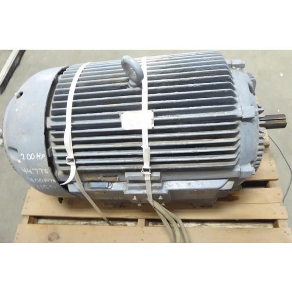 Allis Chalmers 200 HP Electric Motor Frame 447TS 1800 RPM 460 Volt Rebuilt