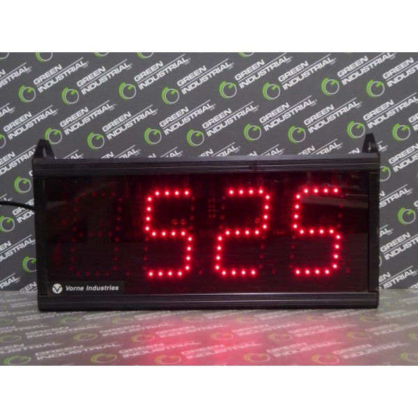 """Vorne Industries 87/256-4D-4 Even Counter 4"""" Red Used"""