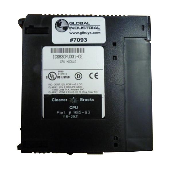 Used Cleaver Brooks CB Hawk CPU 985-93 118-2931 IC693CPU331-CE