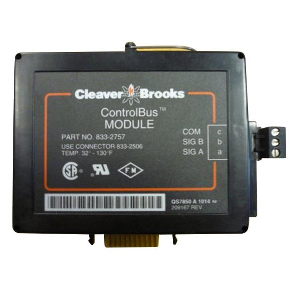 Used Cleaver Brooks ControlBus Module 833-2757 Control Bus CB Hawk