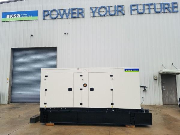 Factory NEW 150 KW Diesel Generator AKSA Power Generation Model APD-ULJ150 John Deere Engine 12 Lead In Stock Warranty