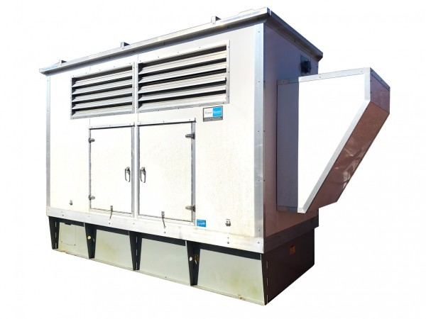 240 KW Used Diesel Generator Volvo TAD1363VE DVPXL12.8CEA 208 / 120 Volt Tier 4I Year 2013 Aluminum Enclosed, Base Tank, TESTED
