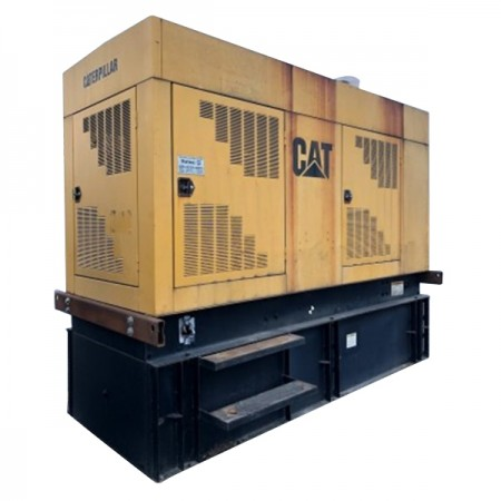 Used 320 KW CAT 3406 Diesel Generator Year 1997 Enclosed With Base Tank TESTED