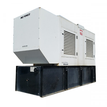 Used 350 KW Diesel Generator MQ Power Enclosed w Base Tank Volvo TAD1241 GE Year 2004 12 Lead 27 Hours Since New