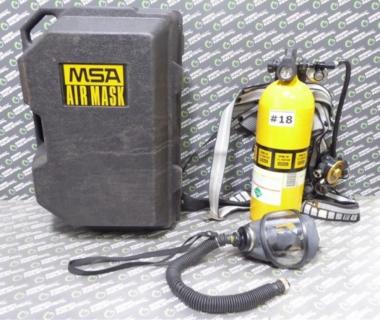 MSA Ultralite II Low Pressure SCBA Mask, Harness, Regulator and Tank Used