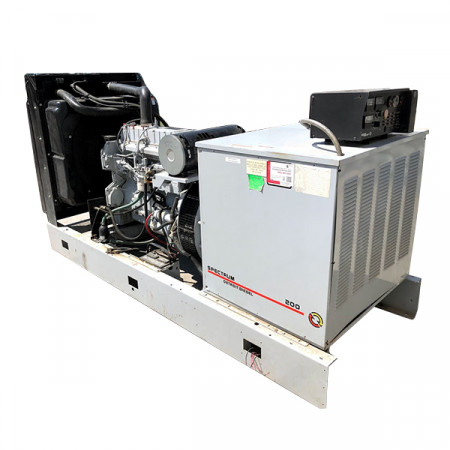 Used Diesel Generator 200 KW Spectrum Detroit Diesel Model 200DSE 12 Lead 480V International Model GCA325 DTA 530E