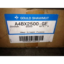 NEW 2500 Amp Gould Shawmut Amp Trap Fuses Case of Three New In Box A4BX2500 - GE