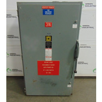 Square D H365 Heavy Duty Fusible Safety Switch 400 Amps 600VAC Series E2 Used