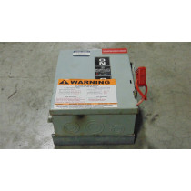 General Electric THN3361 Heavy Duty Non-Fusible Safety Switch 30A 600V M7 Used