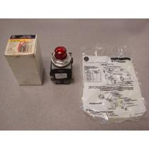 GE CR104PLT22R Red Indicator / Pilot Light New NIB