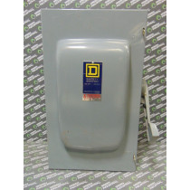 Square D D225N Fusible Safety Switch 400 Amps 240V 2 Pole Used