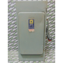 Square D H-364 Heavy Duty Fusible Safety Switch 200 Amps 600VAC Series E1 Used