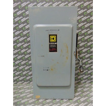 Square D DU324 Heavy Duty Non-Fusible Safety Switch 200 Amps 600VAC Series E1 Used