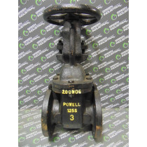 """Powell Class 125S Gate Valve 3"""" 200W0G Used"""