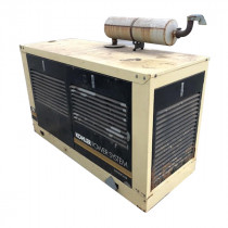 Used Single Phase Natural Gas Generator For Sale 18 KW Kohler Enclosed 120/240 Volt 75 Amps