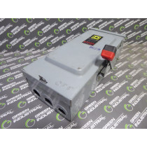 Square D HU361RB Non-Fusible Heavy Duty Safety Switch 30 Amps 600VAC Used