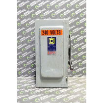 Square D H-322-N Fusible Safety Switch 60 Amps 240VAC Ser. D2 Used
