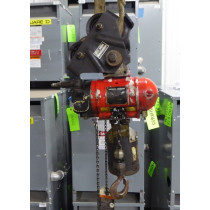 Aro Corporation 7750D 1/2 Ton Pneumatic Chain Hoist with 7702 Trolley 10ft Used