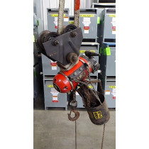 Aro Corporation 7750DT 1/2 Ton Pneumatic Chain Hoist with 7702 Trolley Used