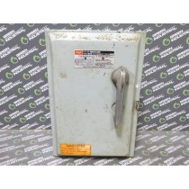 Federal Pacific 1336R Fusible Safety Switch 30 Amps 600VAC Used