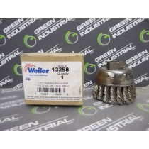 """Weiler 13258 Single Row Wire Cup Brush 2-3/4"""" .020 SS Wire 5/8' '-11AH SRA-2 New NIB"""
