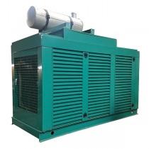 Used 225 KW Natural Gas Generator Cummins GTA-855-G2 480 Volt, Enclosed, 28 Original Hours, Year 2001