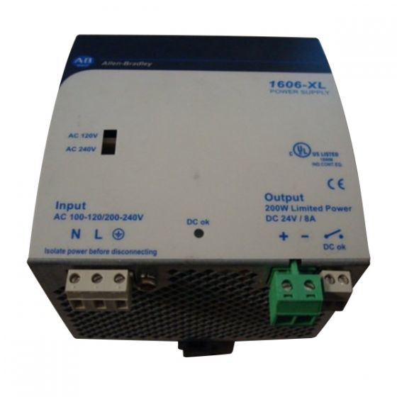 Allen Bradley 1606-XLDNET8 Power Supply 24V 8A Used