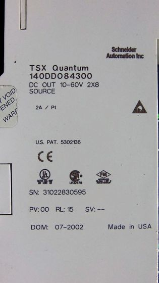USED Modicon 140DDO84300 TSX Quantum DC Out 10-60V 2X8 Source