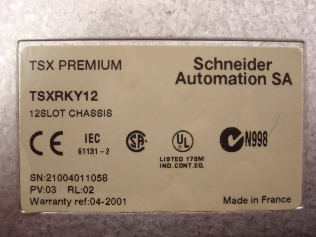 Modicon TSXRKY12 12 Slot Chassis