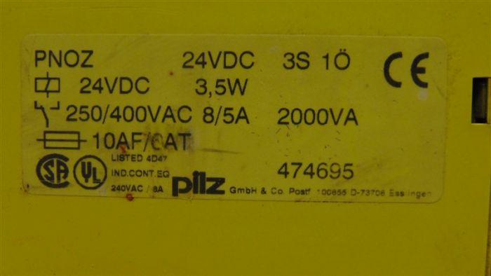 Pilz PNOZ  24VDC 3S 1O  Safety Relay