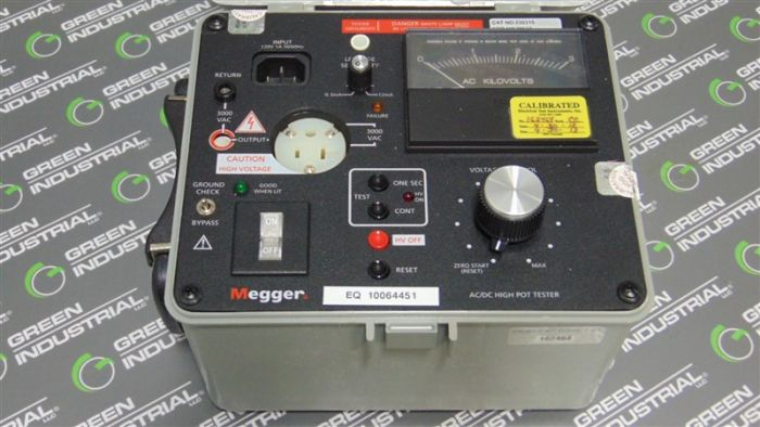 Biddle 230315 Megger Ac Dc High Pot Insulation Tester Used