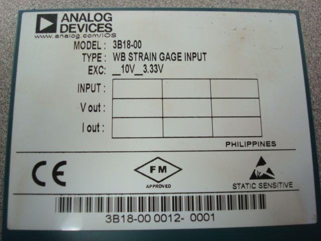 Analog Devices WB Strain Gage Input NEW 3B18-00
