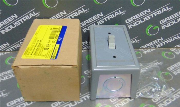 Square D 2510FG1 FHP Manual Starter NEMA 1 Enclosure New IN Box