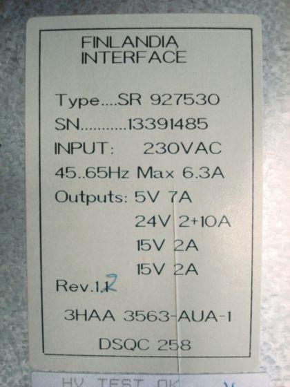 Finlandia 3HAA 3563-AUA//I Power Supply DSQC 258 USED ABB