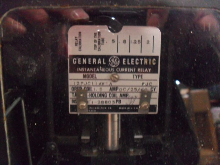 GE 12PJC11AV1A  INSTANTANEOUS CURRENT RELAY