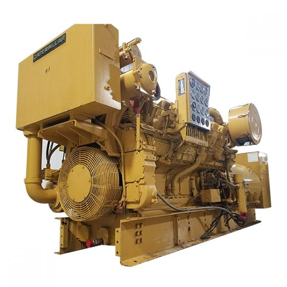 Used Diesel Generator For Sale 1200 KW Caterpillar 3512 1800 HP 4160 Volt  wYE or 2400 Delta AR 2W8405